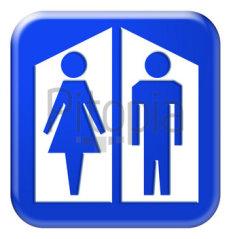 Panneau toilettes homme / femme : comment aller aux toilettes quand on n'est pas chez soi?