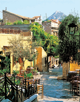 village en grece, pres de la mer egee