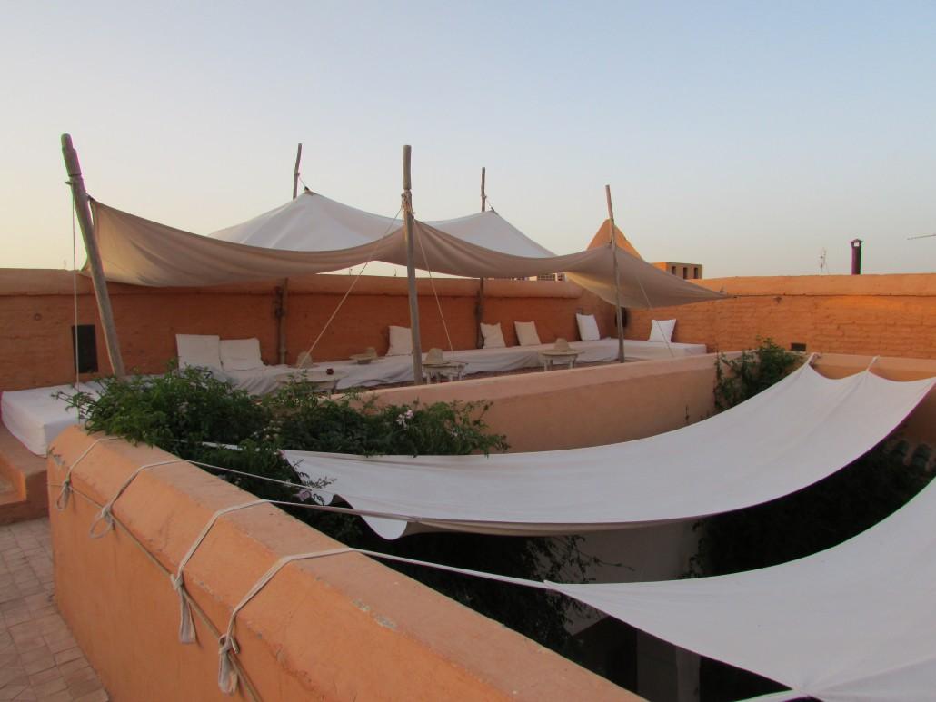 photo de la terrasse de du riad al jazira
