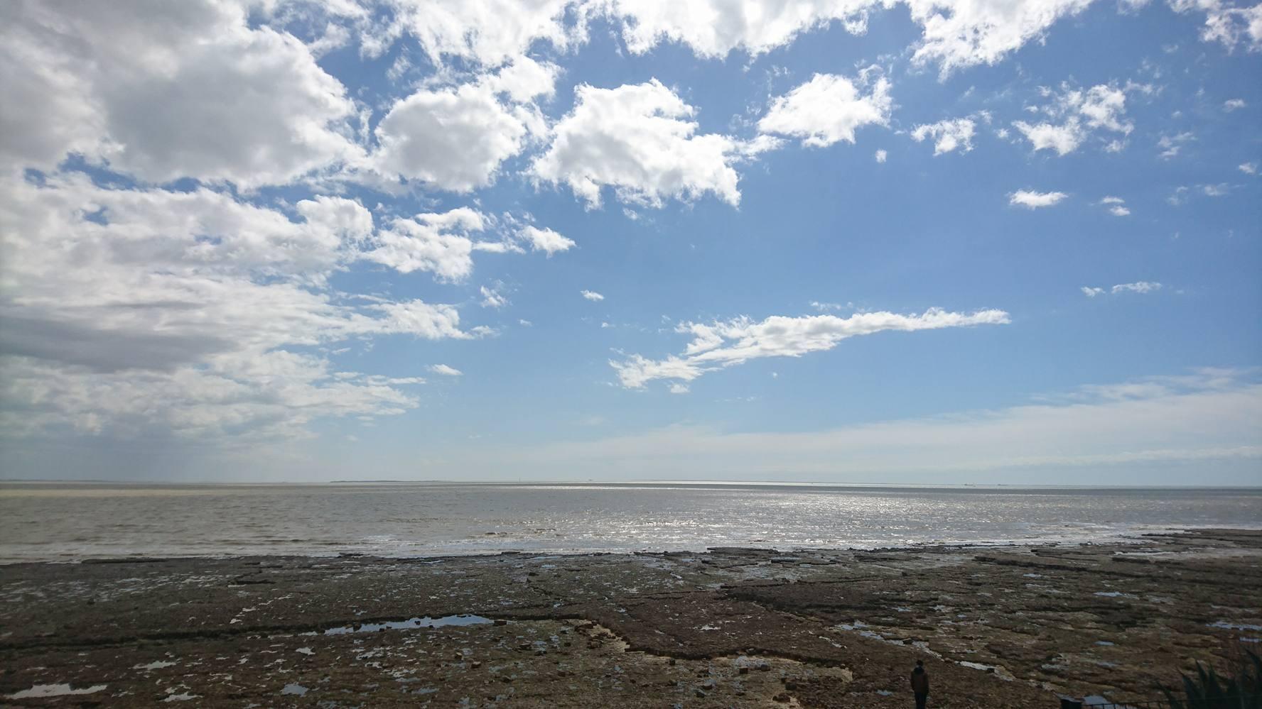 Plage des Minimes à marée basses