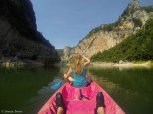 Démarrage en canoë tout doux sur l'Ardèche